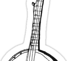 Banjo Stencil  Sticker