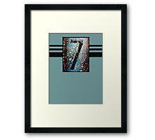 7-II Tee Framed Print