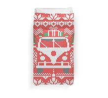 Vintage Retro Camper Van Sweater Knit Style Duvet Cover