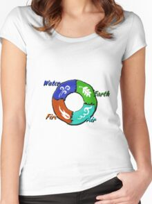 Earth,Air,Fire,Water  Women's Fitted Scoop T-Shirt