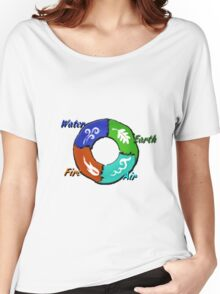 Earth,Air,Fire,Water  Women's Relaxed Fit T-Shirt