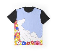 Sleeping Polar Bear Dreaming of Flowers Graphic T-Shirt