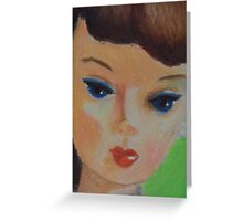 Brunette Barbie Closeup Greeting Card