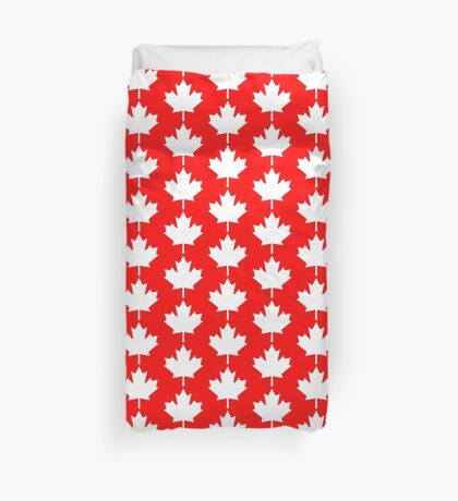 Canada Maple Leaf Flag Emblem Duvet Cover