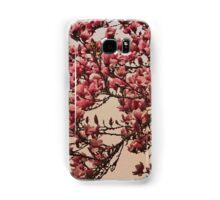 Magnolia Tree In Bloom - Antique Victorian Needlepoint Effect Samsung Galaxy Case/Skin