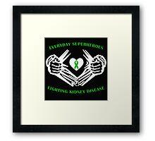 Kidney Disease Heroes Framed Print