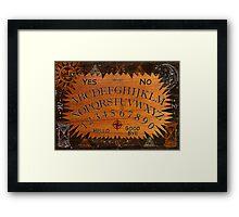 Ouija Board Framed Print