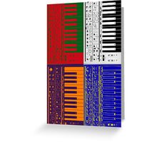poly color mono synth Greeting Card