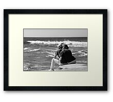Watching The Surf Roll In Framed Print