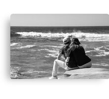 Watching The Surf Roll In Canvas Print