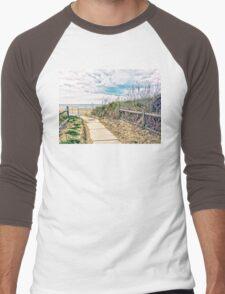 A Walk to the Beach Men's Baseball ¾ T-Shirt