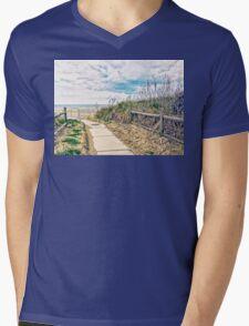 A Walk to the Beach Mens V-Neck T-Shirt