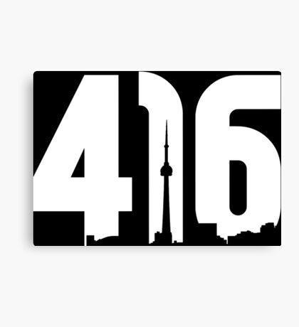 416 logo with Toronto skyline Canvas Print