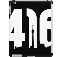 416 logo with Toronto skyline iPad Case/Skin