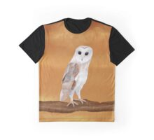 Lucky Barn Owl on an Amber Sky Graphic T-Shirt