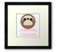 Nora - Sloth Noises 1 Framed Print