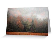 Misty Fall Morn Greeting Card
