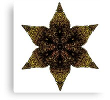 Indian inspired gold star Canvas Print