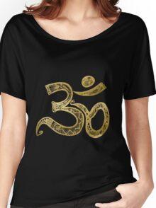 Zen Gold, Om Women's Relaxed Fit T-Shirt