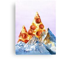 Pepperoni Pizza Peaks Canvas Print