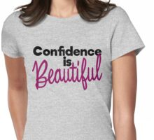 Confidence is beautiful Womens Fitted T-Shirt