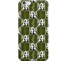 Bamboo Panda Checkered Pattern iPhone Case/Skin