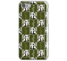 Bamboo Panda Checkered Pattern iPhone Case/Skin