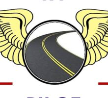 Pilot Wings Drive Your Motorhome Down The Road Sticker