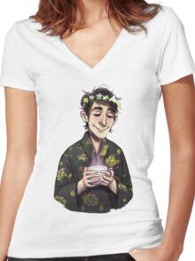 Calm Cobblepot Women's Fitted V-Neck T-Shirt