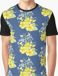 Spring flowers pencil and watercolor  Graphic T-Shirt