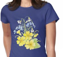 Spring flowers pencil and watercolor  Womens Fitted T-Shirt