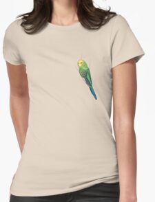 Opaline Green Budgie Womens Fitted T-Shirt