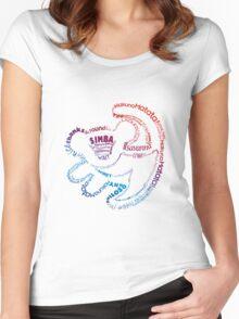 Simba Typo Gradient Women's Fitted Scoop T-Shirt