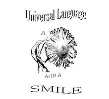 Universal Language Tee Photographic Print