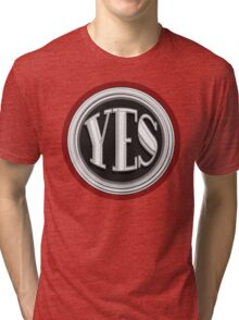 YES  cafe art deco style  Tri-blend T-Shirt