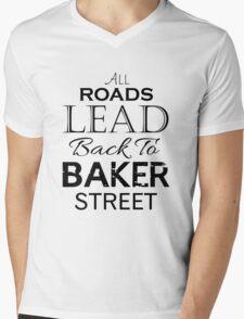 All Roads Lead Back To Baker Street Mens V-Neck T-Shirt
