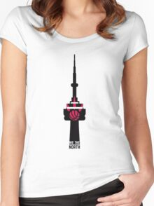 Toronto Raptors We The North (CN Tower) Women's Fitted Scoop T-Shirt