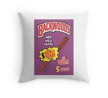 Backwoods Honey Berry Cigars Throw Pillow