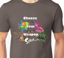 Splatoon - Choose Your Weapon Unisex T-Shirt