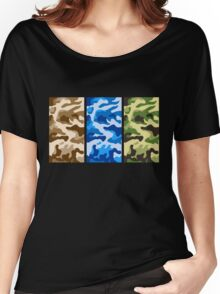 Camouflage colors 2 Women's Relaxed Fit T-Shirt