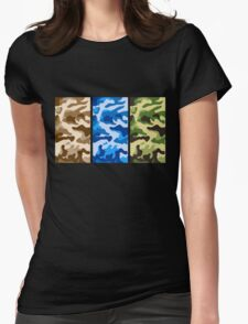 Camouflage colors 2 Womens Fitted T-Shirt