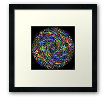 AUTUMN LEAVES SPIRAL Framed Print