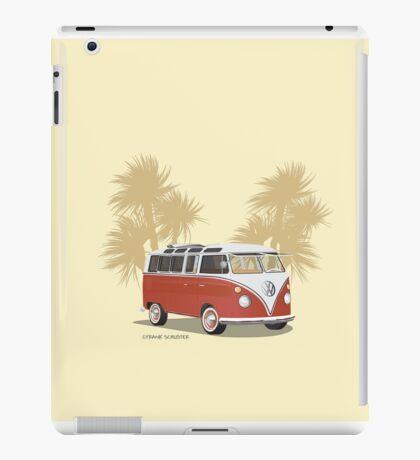 VW Bus 21 Window Samba Van Red Palms iPad Case/Skin