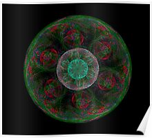 Green Red Transparent Bubble Poster