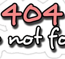 404 Sleep Not Found Sticker