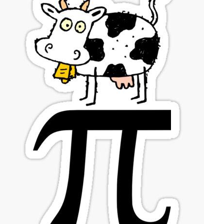 Cow Pi Sticker