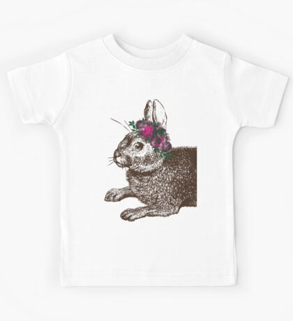 The Rabbit and Roses Kids Tee