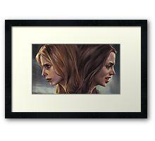Buffy and Faith Framed Print