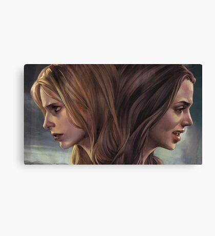 Buffy and Faith Canvas Print