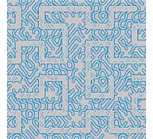 Blue Needlepoint Maze Photographic Print